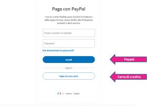 Donazione paypal o carta di credito